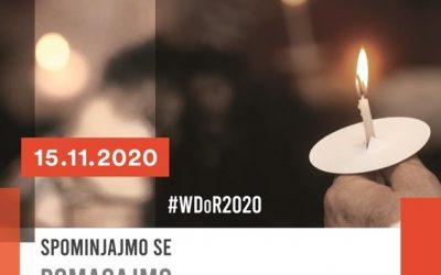 Svetovni dan spomina na žrtve prometnih nesreč 2020